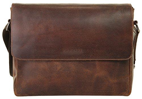 Bugatti Segno Messenger piel 35 cm compartimento Laptop cognac, braun