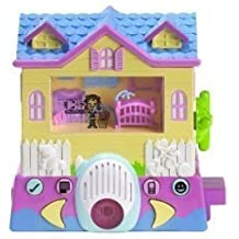 Pixel Chix Babysitter Yellow House with Pink Vase