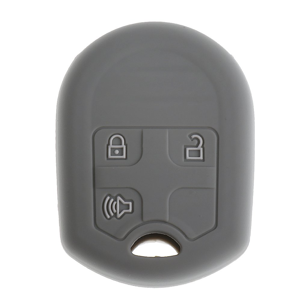 Jili Online Silicone Key Protector Shield Case Fob Cover for Ford Mustang Edge Explorer - Gray