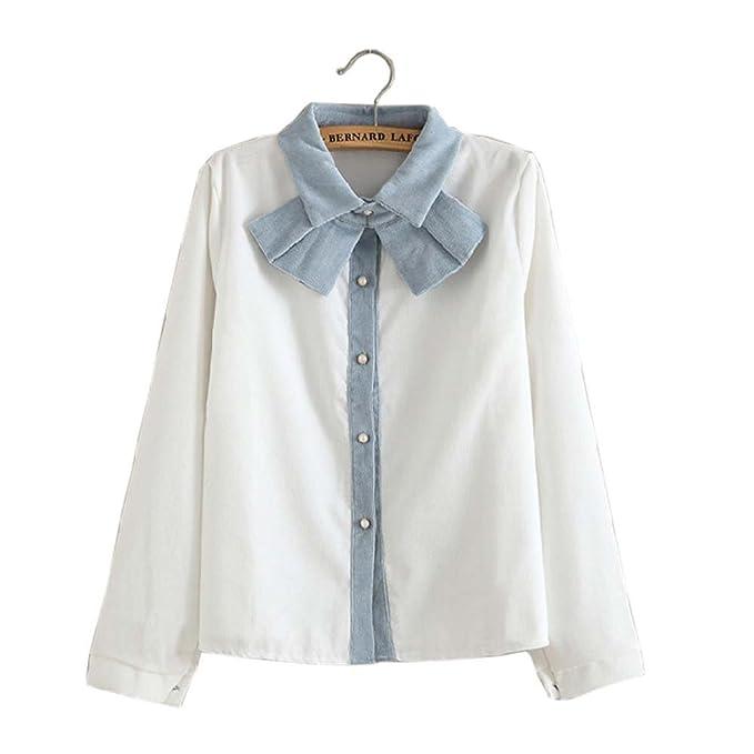 Blusa de manga larga con cuello redondo y manga larga para niñas de Spring Autumn,