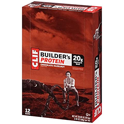 CLIF BUILDER'S - Protein Bar - Chocolate Hazelnut - (2.4 Ounce Bar, 12 Count) - Special Build Part