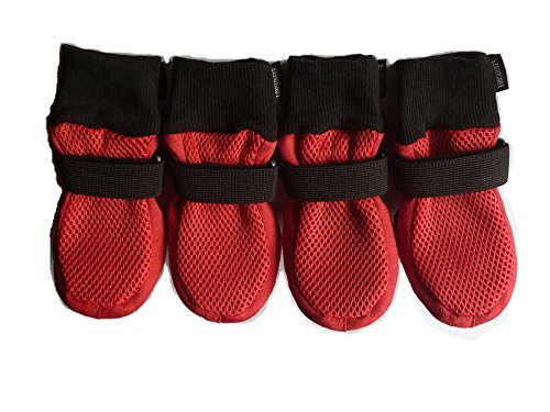 LONSUNEER-Paw-Protector-Dog-Boots-Set-of-4-Breathable-Soft-Sole-and-Nonslip-in-5-Sizes