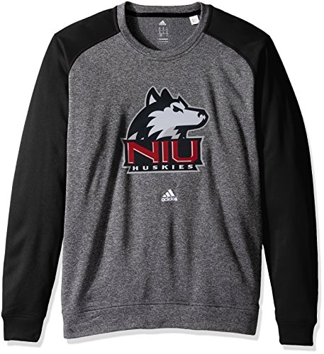 (NCAA Northern Illinois Huskies Adult Men Preferred Patch Climawarm Ultimate Crew,Medium,black)