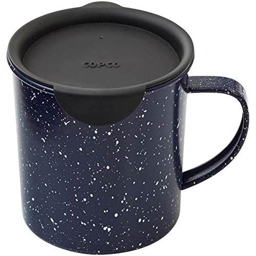 Copco 2510-0700 Tin Cup Camping Style Coffee Mug with Lid, 1