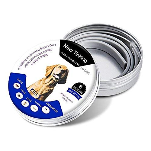 MOORAY Dog Flea Collar Natural Ingredients - Adjustable & Waterproof Dog Flea Collar 8 Month Protection…