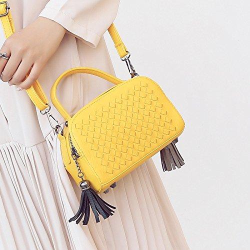 Rosa Xiekua mano fiammifero Piccola Borsa estate tracolla Borsa Sprnb a Borsa Pacchetto New Fashion giallo Tutto limone Handbags a qZwaSwg
