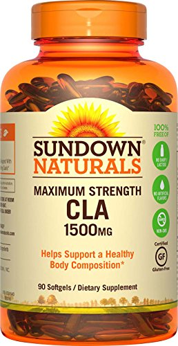 Sundown Naturals Maximum Strength CLA 1500 mg, 90 Softgels