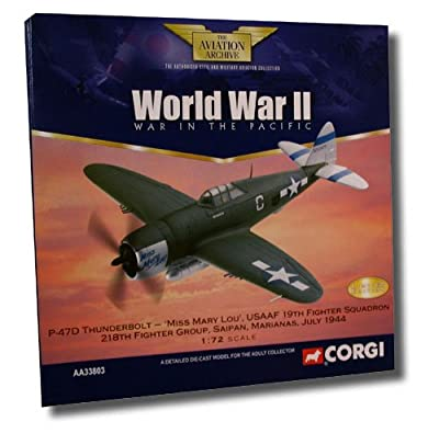 """Corgi """"Miss Mary Lou"""" P-47D Thunderbolt WWII Pacific 1:72 Scale Model"""