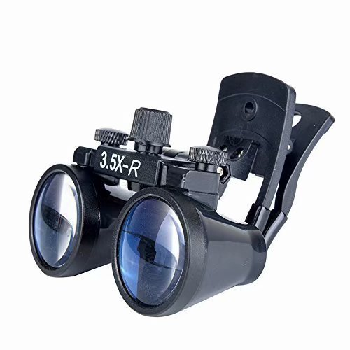 Superdental Dental Binocular Loupes Surgical Glasses Magnifier Clip On DY-110 US STOCK