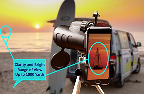 Monocular high power scope bak prism smartphone