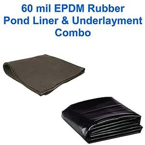 40' x 45' Patriot 60 mil EPDM Pond Liner & Underlayment Combo