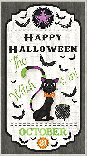 Every Witch Way Door Quilt Panel Halloween Fabric (Wilmington Halloween)