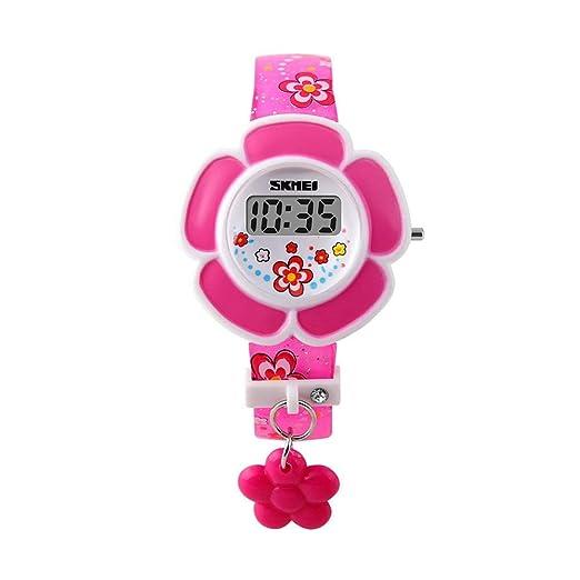 BOZLUN - Reloj Digital con Fecha LED para niñas, diseño de Flor y piragüe: Amazon.es: Relojes