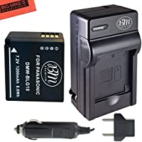 BM Premium DMW-BLG10 Battery and Battery Charger for Panasonic Lumix DC-ZS70, DMC-GX80, DMC-GX85, DMC-ZS60, DMC-ZS100, DMC-GF6, DMC-GX7K, DMC-LX100K Digital Camera