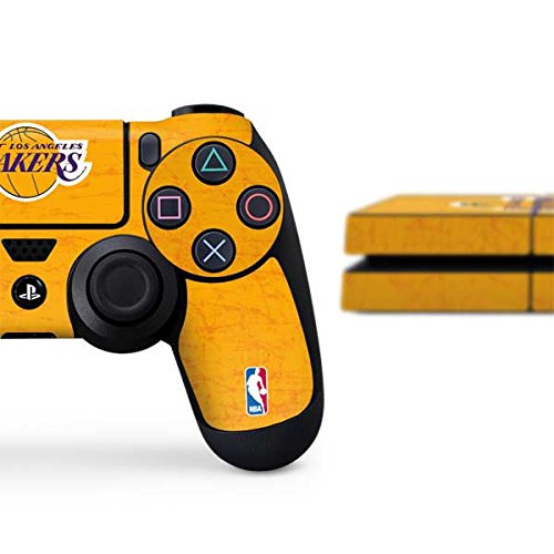 Los Angeles Lakers PS4 Console and Controller Bundle Skin - Los Angeles Lakers Gold Primary Logo | NBA X Skinit Skin