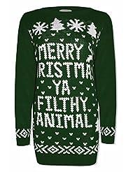 Unisex Celebrity Inspired Merry Christmas Ya Filthy Animal Jumper
