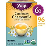 Yogi Tea - Comforting Chamomile - Soothes Mild Tension - 6 Pack, 96 Tea Bags Total