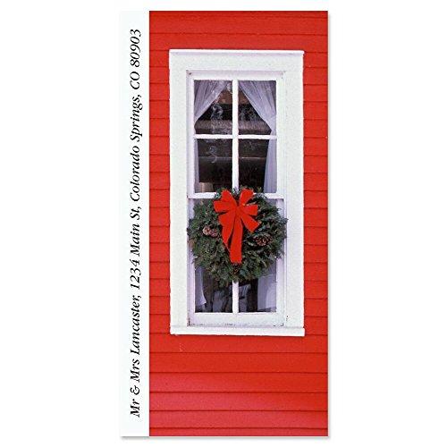 Foil Sheeted Address Labels - Christmas Window Self-Adhesive, Flat-Sheet Supersized Address Labels