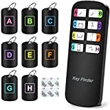 Magicfly Key Finder Bonus Mini Stickers, 1 RF Transmitter and 8 Receivers Keychain Finder Support Remote Control, Wireless RF Item Locator (Upgrade Long Lasting Batteries), Pet & Wallet Tracker