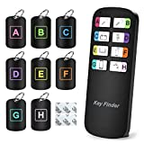 Magicfly Key Finder with Mini Stickers, Wireless RF Remote Control Keychain Finder for TV Remote, Item Locator for Pet Wallet Tracker in Home, 1 Transmitter and 8 Receivers