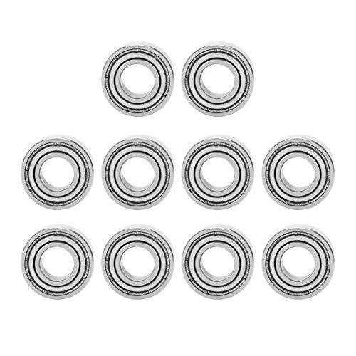 10Pcs 686ZZ Ball Bearings, Steel Mini Ball Bearings Double Rubber Sealed Steel Deep Groove High Speed Single Column with Deep Groove Raceway Ball Bearing 6135mm ()