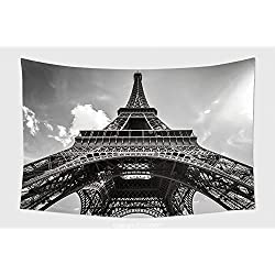 Home Decor Tapestry Wall Hanging Eiffel Tower Paris In Black And White 237074644 for Bedroom Living Room Dorm