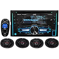 Package: JVC KW-R920BTS Double-Din In-Dash Stereo/CD Player/Receiver With Bluetooth And USB Capabilities + (2) Pair of JVC CS-DR6930 3-Way Car Speakers Totaling 2000 Watt Measure 6X9