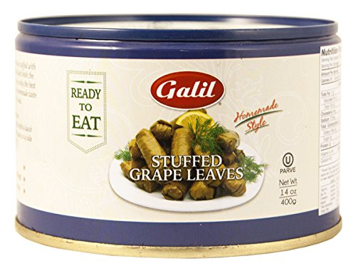 Galil Stuffed Grape Leaves Non-GMO, 14-Ounce Cans (Pack of 12) (Athena Salad Plate)
