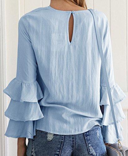 Vian Lundgaard - Camisas - Básico - Manga Larga - 100 DEN - para mujer azul claro