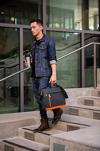 Laptop Bag Notebook Sleeve Shoulder Bag Carrying Case for HP Mobile Thin Client / ProBook / Envy x360 / Envy x2 / Aspire V Nitro / Aspire R 14 / EliteBook Folio Black with Orange
