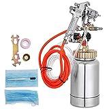 VEVOR Paint Tank 2L / 0.5 Gallon Paint Pressure Pot Tank 3.0mm Nozzle Regulator Pressure Pot Paint Sprayer (2L 3.0mm)