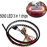 5050 LED tailgate Light4 Function 60 Inch Tailgate Strip Light 5050-90LEDs Very Bright and Waterproof, Fuction As Turn Signal, Parking, Brake, Reverse Lights for Truck SUV Jeeps RV