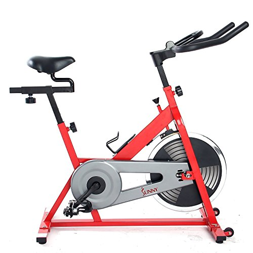 Sunny Health & Fitness SF-B1001 Indoor Cycling Bike, Red by Sunny Health & Fitness (Image #1)