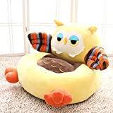 WAYERTY Children Sofa, Kid Chair Cute Cartoon Animal Plush Toy Seat Tatami Couch Birthday Present-Yellow A 55x50x45cm(22x20x18inch)