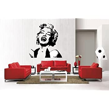 Newclew MARILYN MONROE Face Removable Vinyl Wall Decal Home Décor Large Part 68