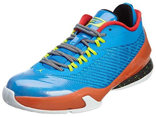 Nike Jordan Kids Jordan CP3.VIII BG Photo Blue/Cybr/Elctr Orng/Blk Basketball Shoe 6.5 Kids US