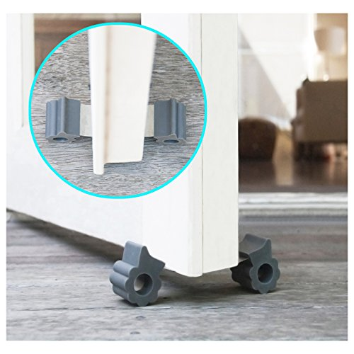 Door Stopper - Revolutionary New Design Stops Movement Forward and Backward - Holds Doors Securely in Place - Ideal for Pet And Child Safety Interior and Exterior Doors - 2 Door Stops Per Pack - Grey by GTP (Image #6)