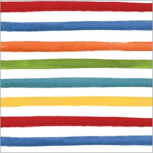 Creative Converting Striped Luncheon Multicolor