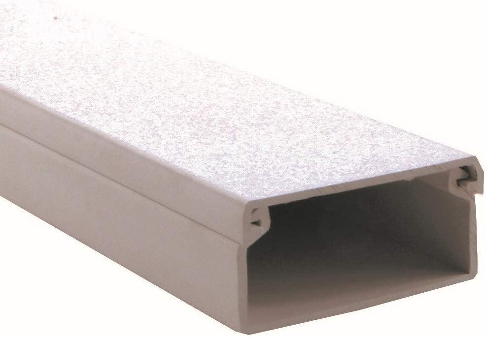 Pack de 10 unidades de canaleta blanca para cable el/éctrico medidas 2000x15x10 mm sin adhesivo