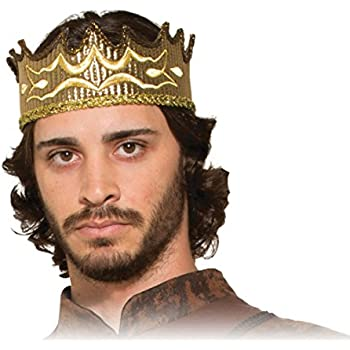 amazon com forum novelties regal king crown one size toys games