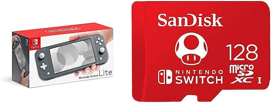 Amazon.com: Nintendo Switch Lite - Gray with SanDisk 128GB ...