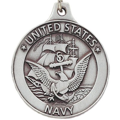 Customizable United States Navy Antique Pewter Finished Keychain with Keyring and Chain, includes Personalization