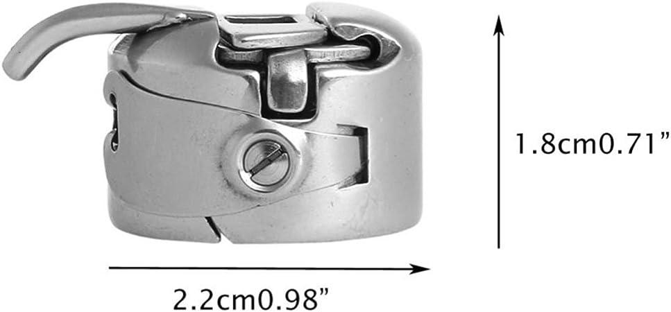 Mudder 4 Pezzi Cassa della Bobina della Macchina per Cucire Cassa della Bobina in Acciaio Inossidabile per Caricamento Frontale 15 Macchine di Classe