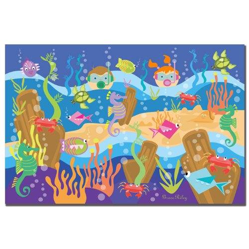 Underwater Adventures by Grace Riley, 14x19-Inch Canvas Wall Art