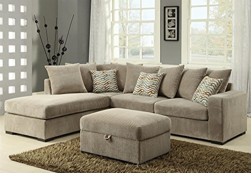 Coaster Home Furnishings 500044 Sectional Sofa, Taupe/Brown