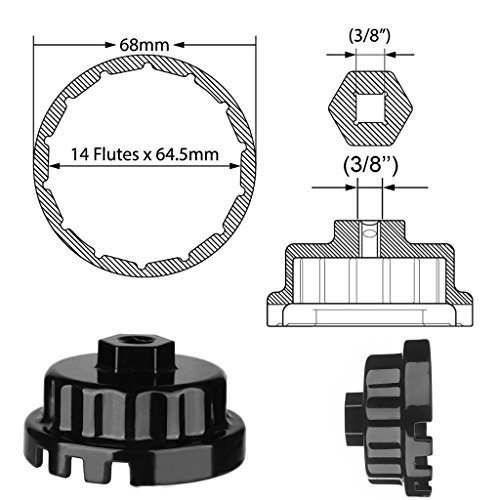Ibetter Oil Filter Wrench + Oil Drain Plug Gaskets(QTY5) for Toyota Lexus Scion Avalon Rav4 with 2.5L to 5.7L Engines Oil System Tool