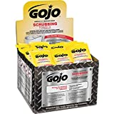 Gojo Scrubbing Towels 6380-04, Display Carton, Individually Wrapped Extra-Large Textured Wet Towels - 80 Count