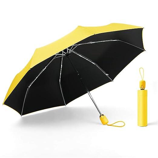 JUNDY Paraguas a Prueba de Viento y Estable, Paragua de Bolsillo ...