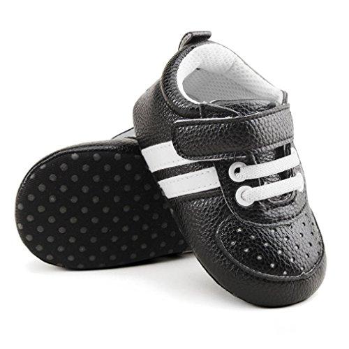 ... BZLine® Baby Kleinkind Krippe Schuhe Prewalker Soft Sohle Sneakers  Schwarz ...