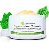 Organic Hemp Pain Relief Cream by ZenRenu | MSM Turmeric Arnica, | Relieve